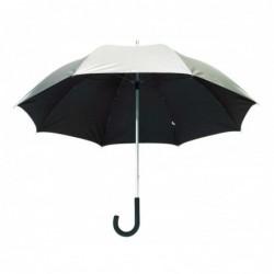 Üvegsz. alum. golf esernyő, ezüst/fekete