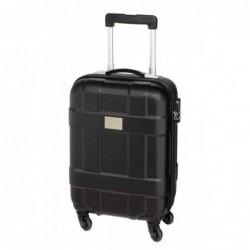 Monza gurulós kabin bőrönd, fekete