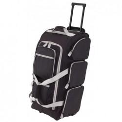 9P gurulós utazó táska, fekete-szürke