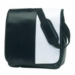 Válltáska, PVC, fekete/fehér