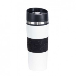 Arabica duplafalú termobögre, kb. 440 ml kapacitás, fekete/fehér