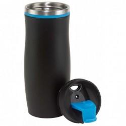 DARK CREMA duplafalú termosz bögre, fekete-kék